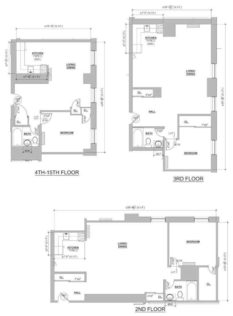 Mayflower 1 Bedroom Floor Plan